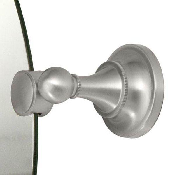 Tiara Satin Nickel Tilting Rectangular Mirror, image 2