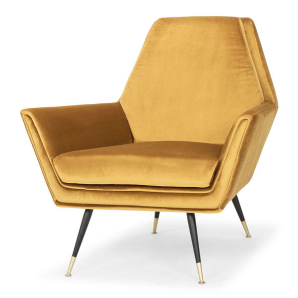 Vanessa Mustard and Black Occasional Chair, image 1