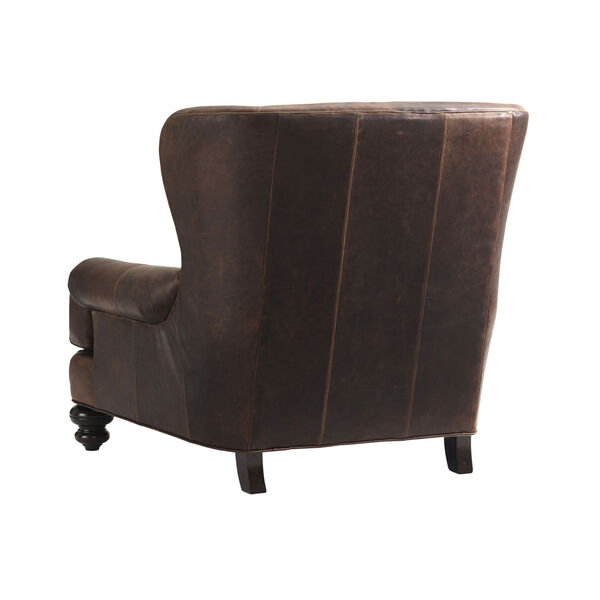 Tommy Bahama Upholstery Brown Kent Leather Chair, image 2