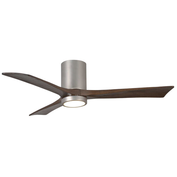Irene Brushed Nickel 52-Inch Ceiling Fan with Three Walnut Tone Blades, image 1