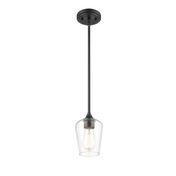 Ashford Matte Black One-Light Mini Pendant, image 1