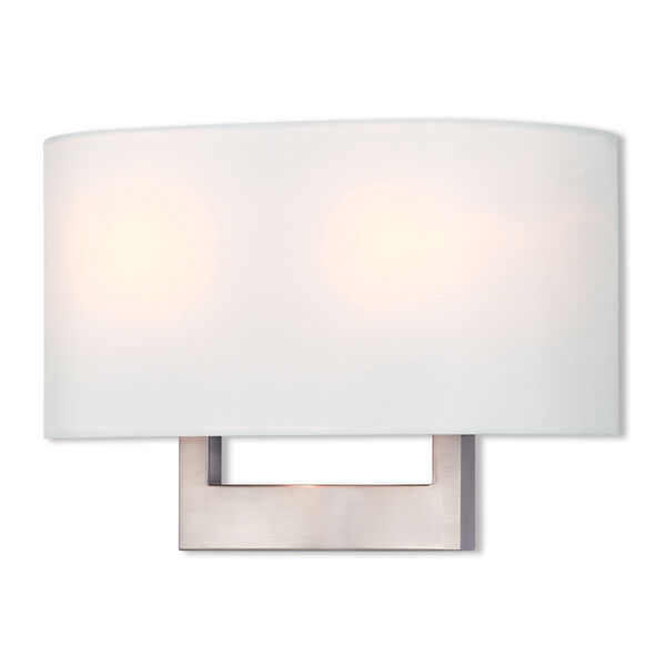 Hayworth Brushed Nickel 14-Inch Two-Light Wall Sconce, image 1