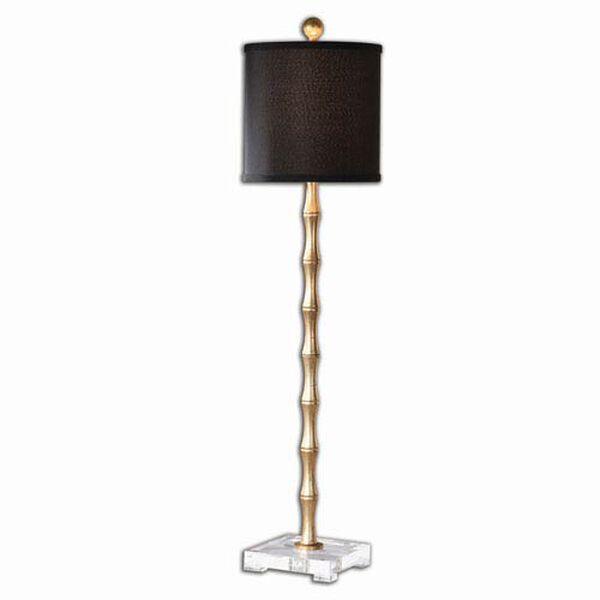 Braxton Metal Bamboo Buffet Lamp with Black Shade - (Open Box), image 1