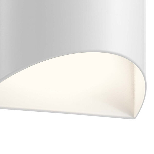 Wesley White Two-Light LED Outdoor Wall Sconce, image 2