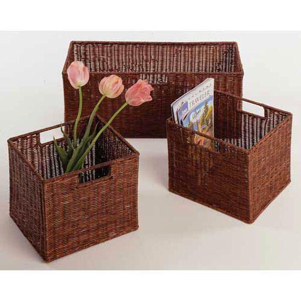 Espresso Storage Baskets, Set of Three, image 1