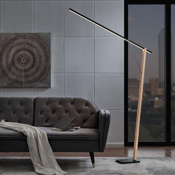 Kylar Black LED Floor Lamp, image 3