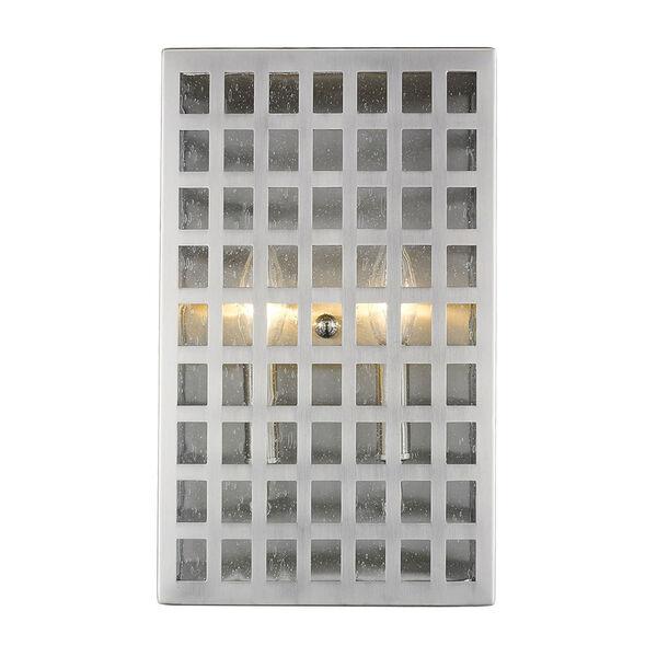 Letzel Satin Nickel Two-Light Outdoor Wall Mount, image 4