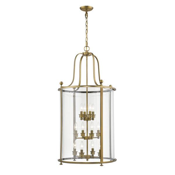 Wyndham Heirloom Brass 12-Light Chandelier With Transparent Glass, image 1
