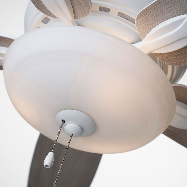 Pro Series Satin White Three Light Ceiling Fan, image 8