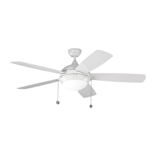 Discus Outdoor White 52-Inch LED Outdoor Ceiling Fan, image 4