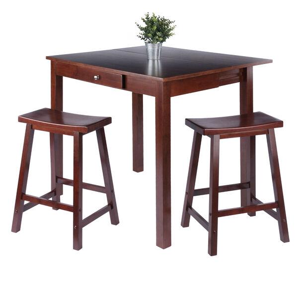 Perrone Walnut Three Piece High Table Set, image 2