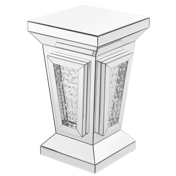 Modern Mirrored 24-Inch Contemporary Crystal End Table, image 4