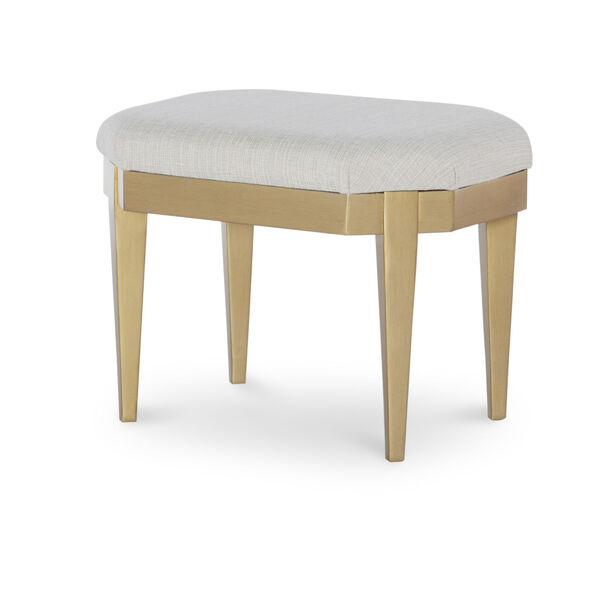 Chelsea by Rachael Ray White with Gold Accents Kids Stool, image 1