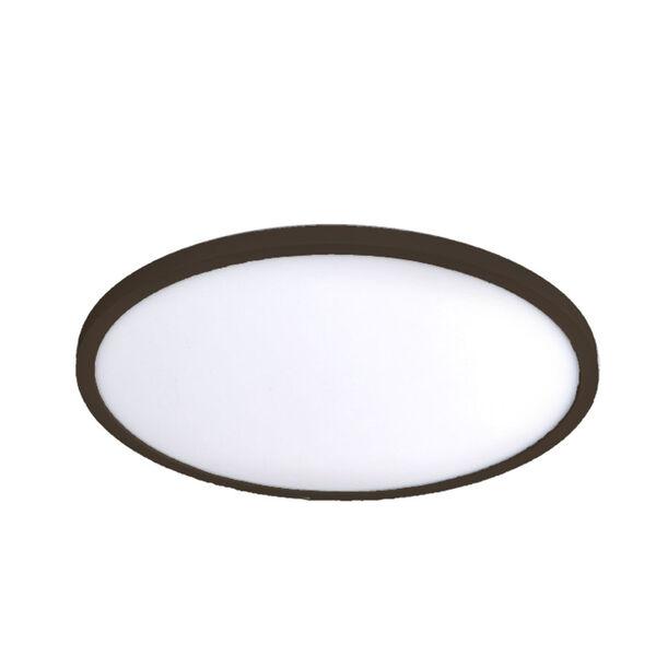 Bronze 15-Inch 3000K LED ADA Flush Mount, image 1