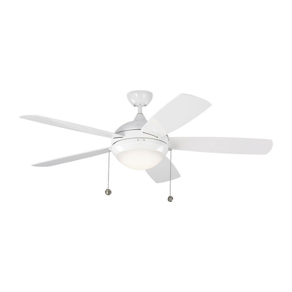 Discus Outdoor White 52-Inch LED Outdoor Ceiling Fan, image 1