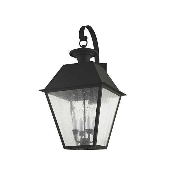 Mansfield Black Four-Light Outdoor Wall Lantern, image 3