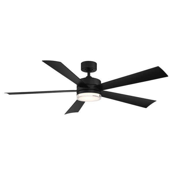 Wynd Matte Black 60-Inch ADA LED Ceiling Fan, image 1