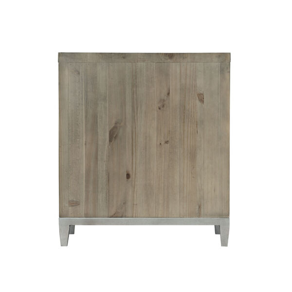 Glazed Silver and Brown 26-Inch Loft Shaw Nightstand, image 6