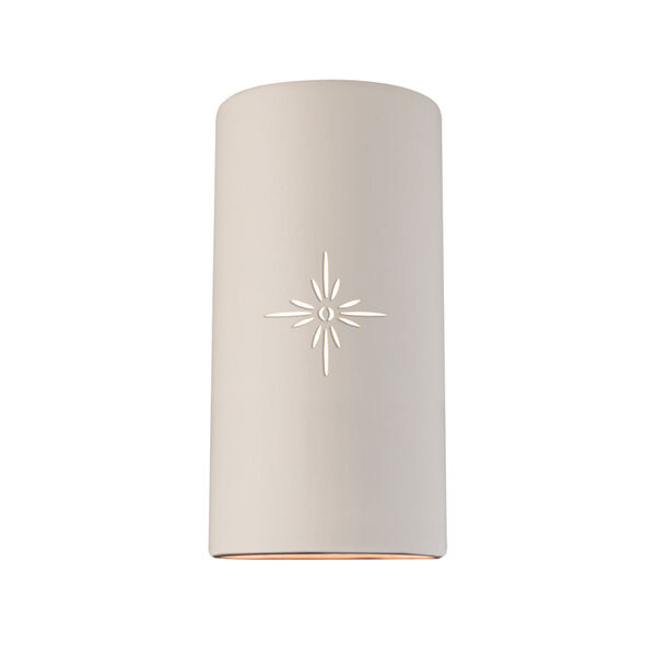 Sun Dagger Matte White 11-Inch Two-Light Cylinder Closed Top and Bottom Outdoor Wall Sconce, image 1