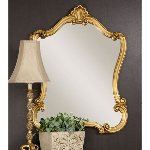 Vivian Gold Framed Wall Mirror, image 1