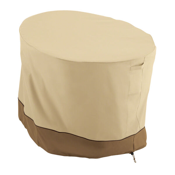 Ash Beige and Brown Papasan Patio Chair Cover, image 1