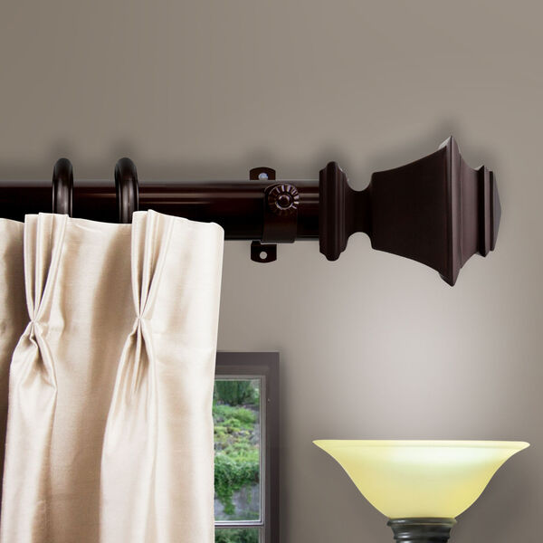 Bach Cocoa 156-Inch Decorative Traverese Rod with Ring, image 2