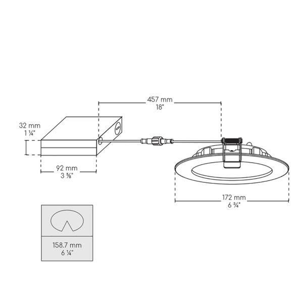 White Wi-Fi RGB LED Recessed Fixture Kit, image 4