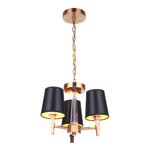 Tarryn Satin Brass Three-Light Convertible Semi Flush, image 4