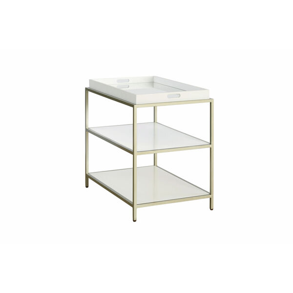 Delaney White End Table with Removable Tray, image 1