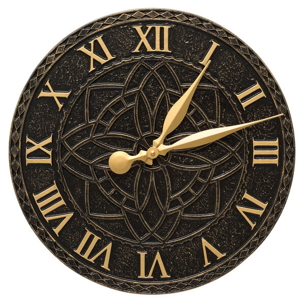 Artisan Black and Gold Indoor Outdoor Wall Clock, image 1