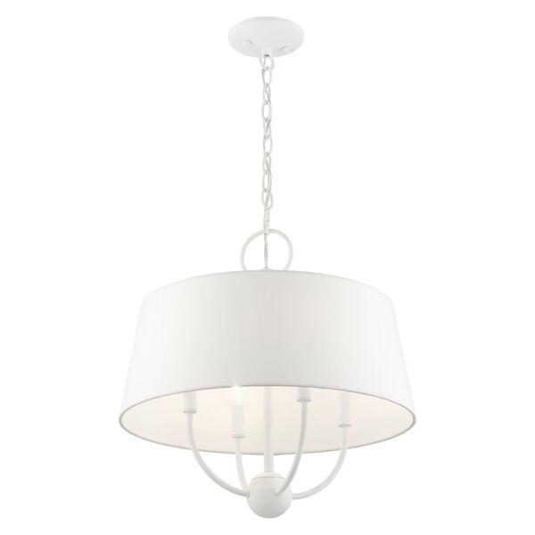 Ridgecrest White Four-Light Chandelier, image 5