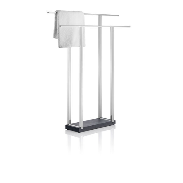 Menoto Polished Stainless Steel Double Towel Stand, image 1