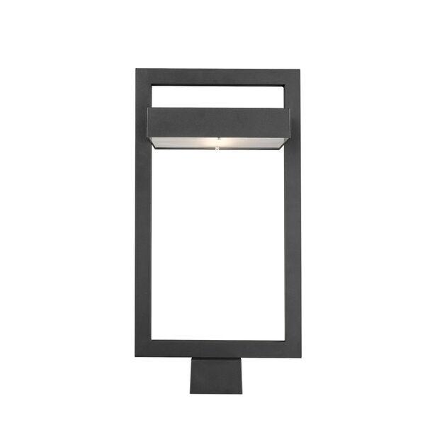Luttrel Black LED Outdoor Post Mount, image 2