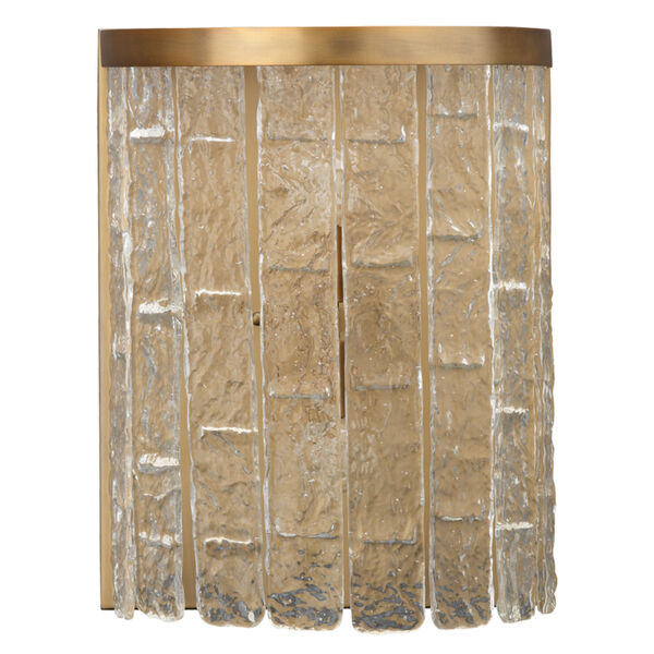Waterfall Clear Glass with Antique Brass Two-Light Wall Sconce, image 5