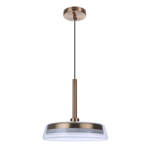 Centric Satin Brass 14-Inch LED Pendant, image 1