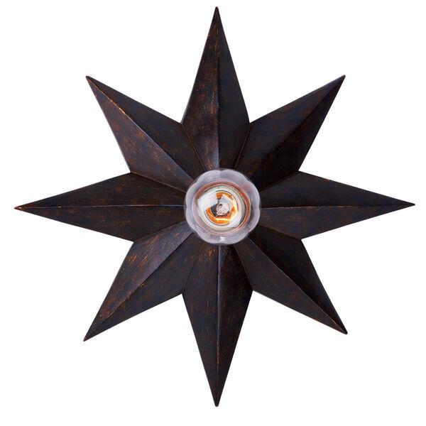 Astro English Bronze One-Light Flush Mount, image 2