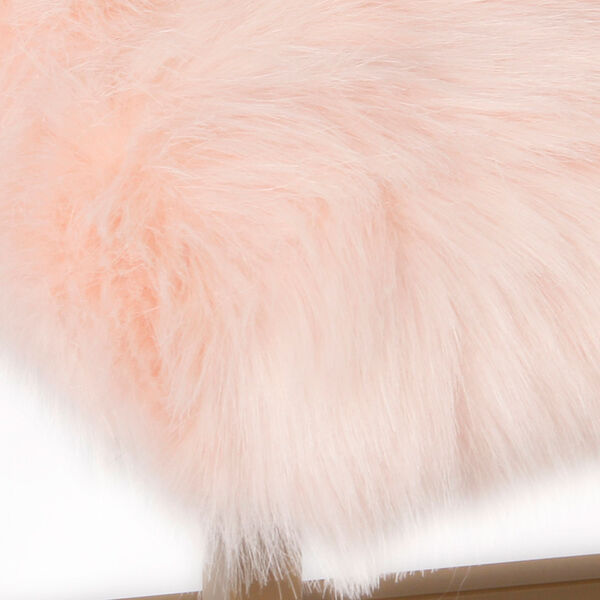 Faux Fur Rectangle Bench - Pink, image 5