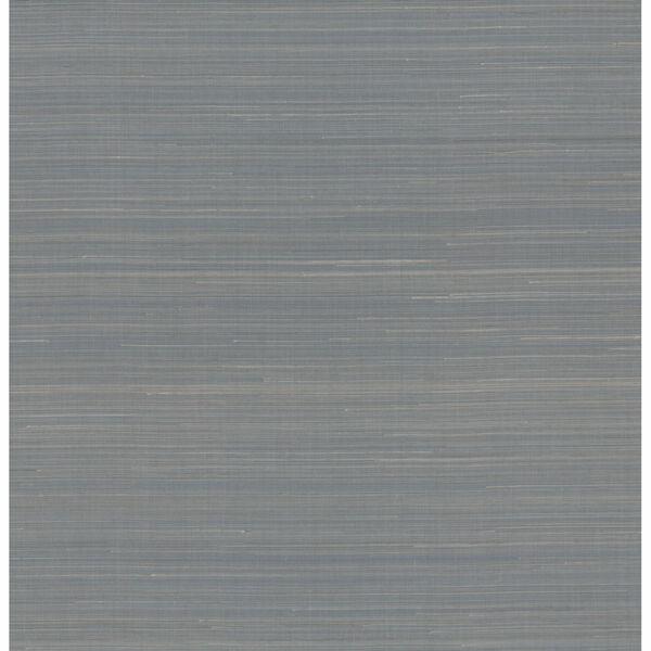 Antonina Vella Elegant Earth Blue Abaca Weaves Wallpaper, image 2