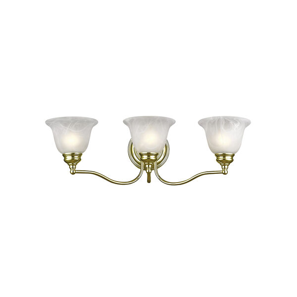 Essex Polished Brass 24-Inch Three-Light Bath Light, image 1