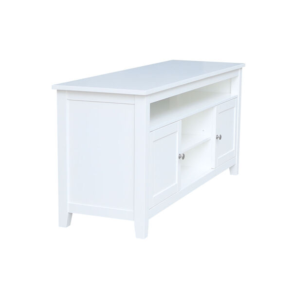 White 57-Inch TV Stand with Two Door, image 3