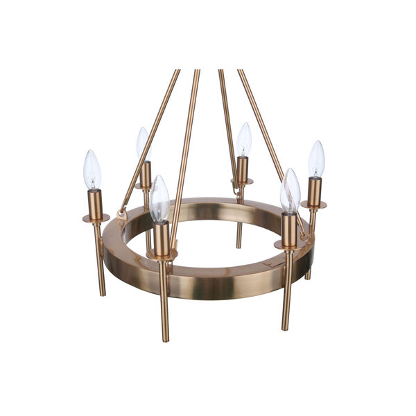 Larrson Satin Brass Six-Light Chandelier, image 5