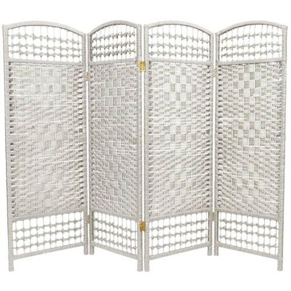 Four Ft. Tall Fiber Weave Room Divider, Width - 64 Inches, image 1