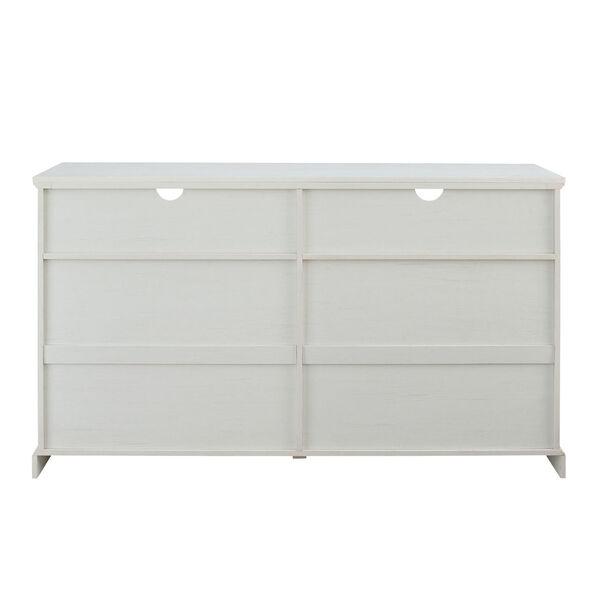 Hazel Brushed White Windowpane Glass Door TV Stand, image 6
