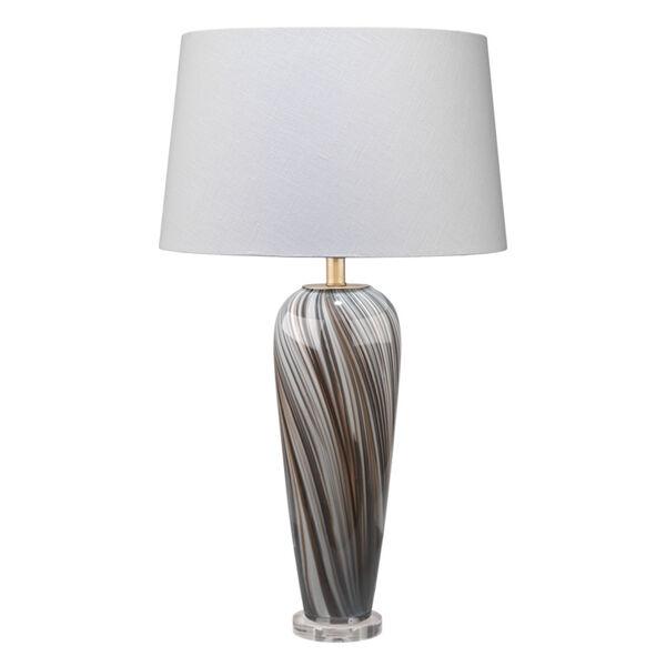 Bridgette Gray and Black Swirl Glass One-Light Table Lamp, image 1