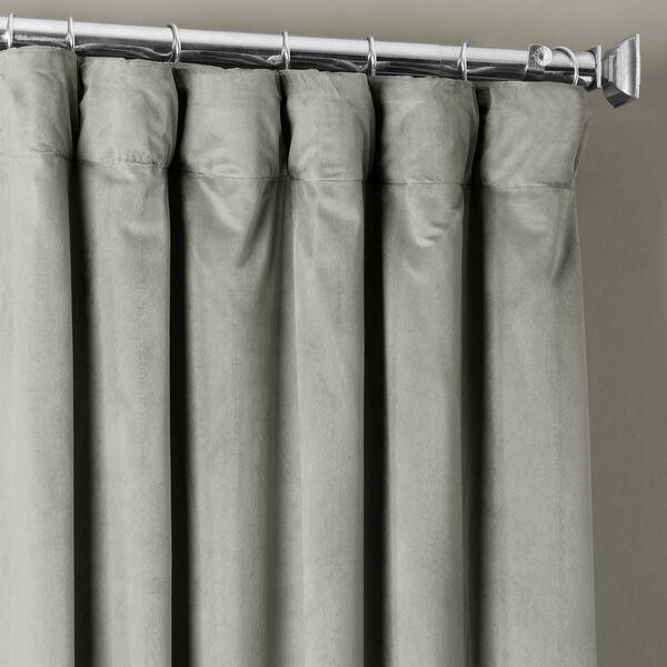 Signature Silver Grey Blackout Velvet Pole Pocket Single Panel Curtain, 50 X 108, image 3
