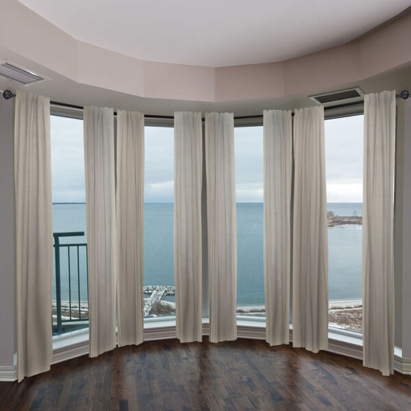 Leanette Black Four-Sided Bay Window Curtain Rod, image 2