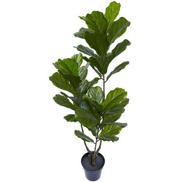 Green 65-Inch Fiddle Leaf Tree, image 2