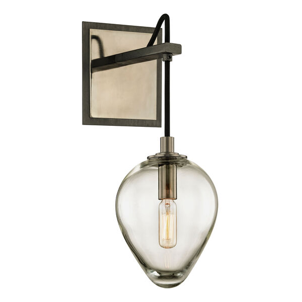 Brixton Gunmetal and Smoked Chrome One-Light Wall Sconce with Dark Bronze, image 1