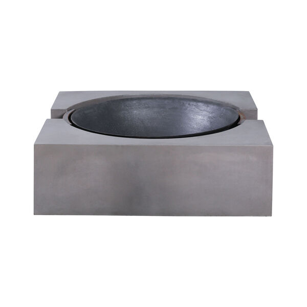 Volcano Polished Concrete Outdoor Fire Pit, image 3