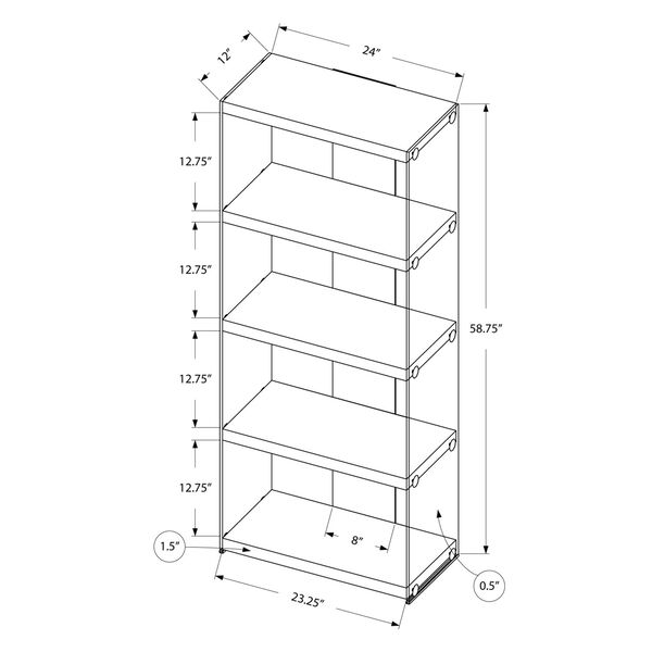 Brown 12-Inch Bookcase, image 5
